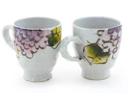 amazon com premium 100 handmade ceramic mug set pinched