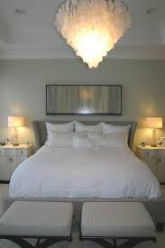 White Shell Chandelier Bedroom White Drapes In Eclectic Bedroom Design With Capiz Shell