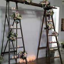 wedding backdrop ideas 2017 wedding backdrop ladders candles w ceremony