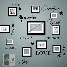family is words wall art quote vinyl decal stickers for picture