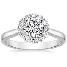 flower halo engagement ring 18k white gold lotus flower ring engagement wedding