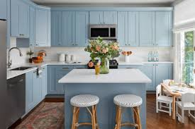 best wall color with oak kitchen cabinets the best 12 blue paint colors for kitchen cabinets