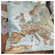 Map Bedding World Map Duvet Cover Sweetgalas