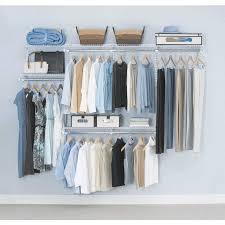 Closetmaid Shelf Track System Closet Organizer Kit Satin Chrome Lowes Closet Systems With