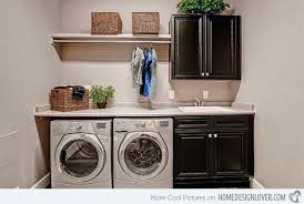 home laundry room cabinets make washing easy in 15 neat home laundry areas home design lover
