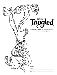 disney tangled coloring pages printable tangled coloring pages