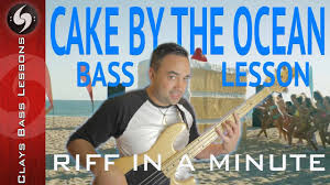 cake by the ocean bass line with tab riff in a minute dnce
