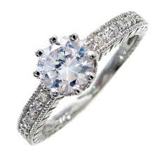 wholesale rings com images Sterling silver round cut cz engagement ring pave cz accents jpg