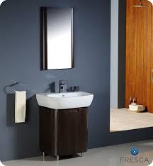 fresca andria wenge brown modern bathroom vanity with mirror