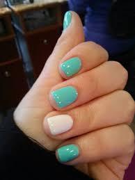 shellac mint white nail design nail art nail salon irvine