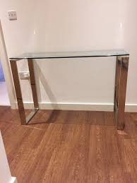 Gumtree Console Table Glass Silver Chrome Console Table In Kingsbury Gumtree