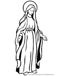 religious christmas bible coloring pages mary mother jesus