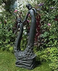 large contemporary sculptures loving twist modern garden