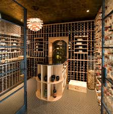 cork flooring pros and cons wine cellar contemporary with ceiling