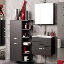 badezimmer komplett set badezimmer komplettset in anthrazit 3d spiegelschrank 3 teilig