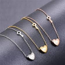 rose key necklace images Martick lovely sweet heart pendant necklace rose gold color key jpg