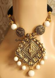 pendant necklace set images Antique gold plated pendant necklace set laxmi pendant necklace jpg