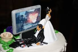 gamer cake topper wedding cake topper for soon to be ex gamers navigator