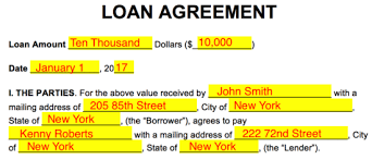 free loan agreement templates pdf word eforms u2013 free