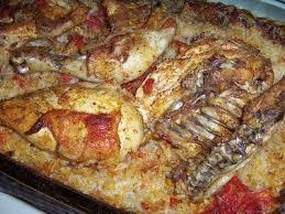 cuisine poulet au four le poulet et riz au four de zapbook recette ptitchef