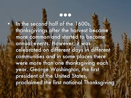 why was thanksgiving first celebrated thanksgiving by natalia trad