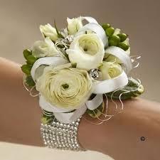 Wrist Corsages For Prom Spare 6 Luxury White Elegance Wrist Corsage On Diamond Diamante