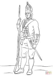revolutionary war coloring pages hessian soldier coloring page