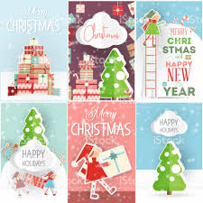 christmas posters merry christmas posters set stock vector more images of