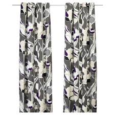Purple Curtains Ikea Decor Janette Pair Of Curtains Gray Ikea These Are Actually Gray And