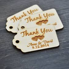 bridal shower favor tags personalized thank you wedding tags custom engraved wooden tags
