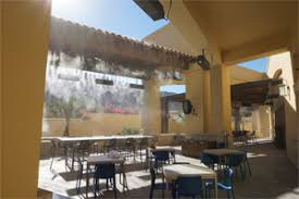 Best Patio Misting System Outdoor Restaurant Misting Systems Cooling Fans And Patio Misters