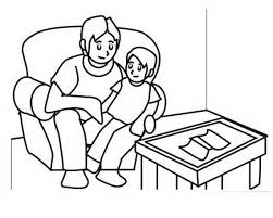 coloring pages dad father u0027s family holiday net guide