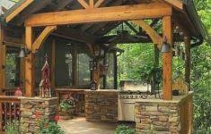 Rustic Outdoor Kitchen Ideas - classic building kitchen cabinets diy