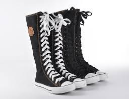 womens knee high boots sale rock boot shoes sneaker knee high zip