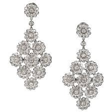 White Chandelier Earrings Tiffany And Co 4 15 Carat Diamond Platinum Dangle Chandelier