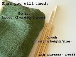burlap scrap christmas trees tutorial u2013 six sisters u0027 stuff