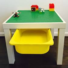 duplo table with storage the handmade table with storage bin unleashes your children s