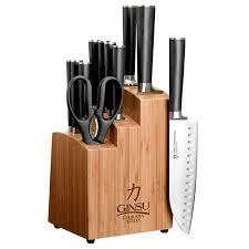stainless steel kitchen knives set ginsu gourmet chikara series forged 12 japanese steel knife
