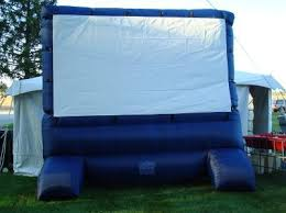 Backyard Projector Screen by Airblown Deluxe Widescreen Outdoor Inflatable 12ft Diagonal Movie