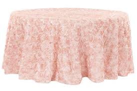 120 round tablecloth fits what size table wedding rosette satin 120 round tablecloth blush rose gold cv