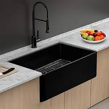 bowl kitchen sink for 30 inch cabinet 30 farmhouse sink lordear 30 inch black farmhouse kitchen sink apron front gloss black fireclay porcelain ceramic