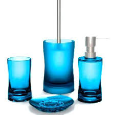 wondrous blue glass bathroom accessories aqua blue glass bathroom