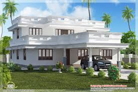 flat roof home design with 4 bedroom kerala home design and