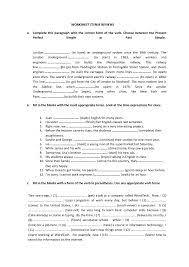 resultado de imagen de present perfect tense printable worksheet