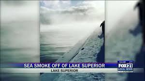 lake superior sea smoke sea smoke appears over lake superior fox21online