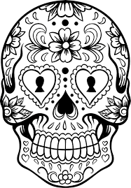 sugar skull version 6 wall vinyl decal sticker art graphic sticker