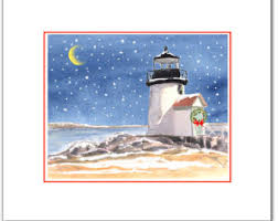 lighthouse cards etsy