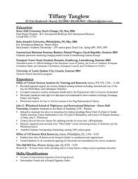 Resume Samples For Internships For College Students by Sample Resume Templates For College Students Experience Resumes