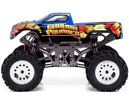 rc monster truck racing ground pounder rc monster truck