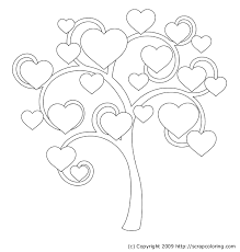 heart tree coloring